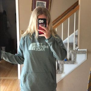 Off Green North Face Hoodie